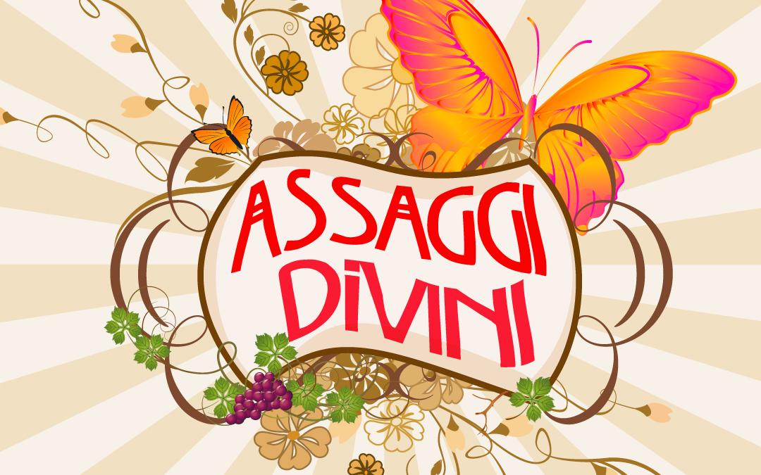 """Logo per programma """"ASSAGGI DIVINI"""" di Radio Icaro"""